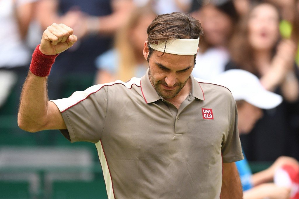 Deszcz nie przeszkodził Federerowi.