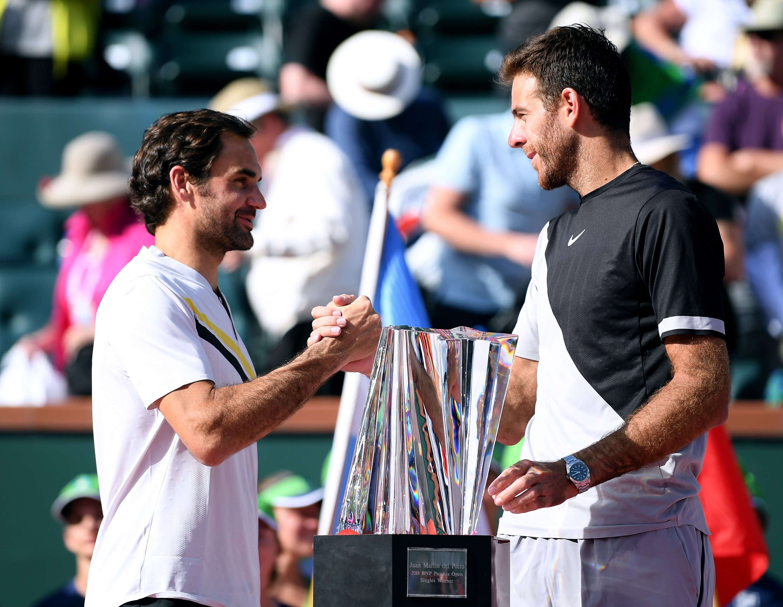 Roger Federer wspiera Juana Martina del Potro