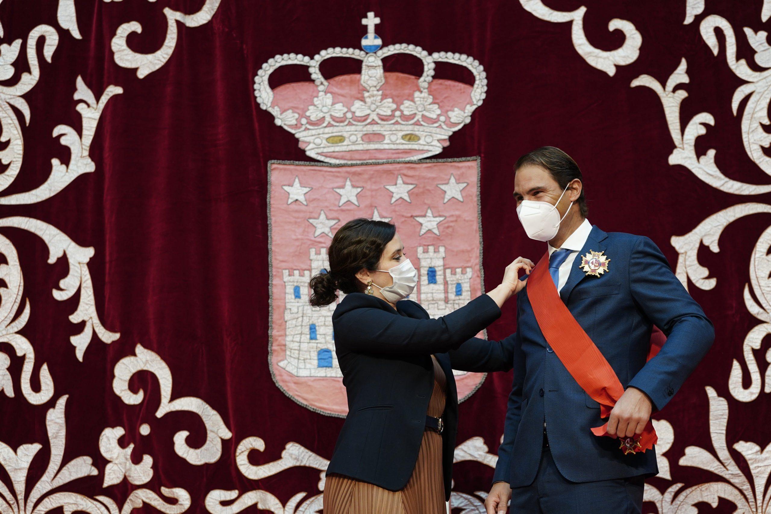 Rafael Nadal odznaczony przez władze Madrytu